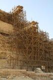 Échafaudage en bois Images libres de droits