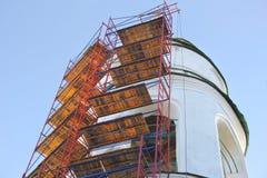 Échafaudage Restauration d'église photos libres de droits