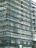 Échafaudage sur le chantier de construction Photographie stock libre de droits