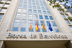 Échange courant, Barcelone Photos stock