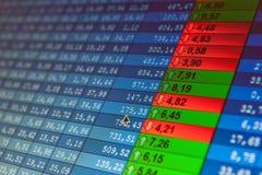 Échange courant de données financières Image stock