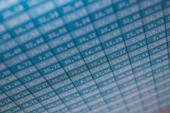 Échange courant de données financières Photos libres de droits