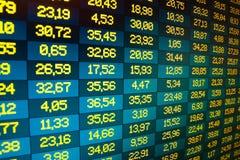 Échange courant de données financières Photo libre de droits