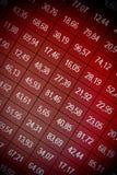 Échange courant de données financières - perte Images stock