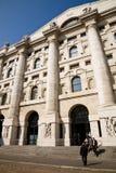 Échange courant, Milan Image libre de droits