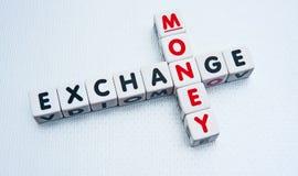 Échange d'argent Photo stock