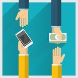 Échange d'argent illustration stock