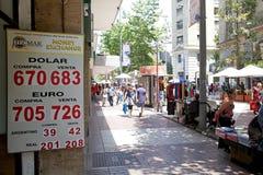 Échange d'argent, Santiago de Chile, Chili image libre de droits