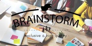 Échange d'idées partageant des idées de réunion prévoyant le concept de stratégie photos stock