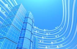 Échange d'immeubles - fond de concept Photo libre de droits