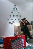 Échange de cadeau de Noël Photographie stock