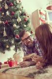 Échange de cadeaux Photographie stock