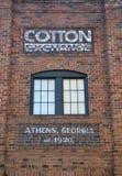 Échange de coton à Athènes, la Géorgie, Etats-Unis Photo stock
