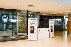 Échange de la note 7 de galaxie de Samsung Image libre de droits