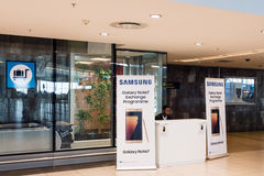 Échange de la note 7 de galaxie de Samsung Images stock