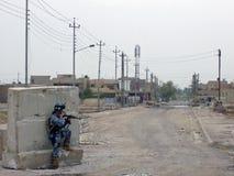 Échange de tirs Bagdad Irak 07 de police nationale image stock