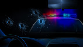 Échange de tirs de police image stock
