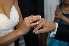 Échange des anneaux Photo stock