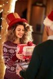 Échange des cadeaux Photo stock