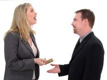 Échange financier de crédit Images libres de droits
