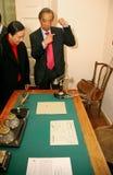 Échanges de Hong Kong de Président dans le réceptionniste Lénine Photos stock