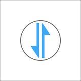 Échangez l'icône solide, l'Internet mobile et le 3g Photographie stock libre de droits