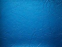 Échantillon bleu de Leatherette image libre de droits