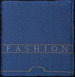 Échantillon bleu de tissu Images stock