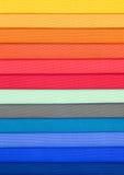 Échantillon coloré de rideau photo stock