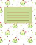 Échantillon d'invitation de carte postale de couverture de carnet d'école Photo stock