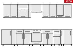 Échantillon d'objets modulaires de cuisine Photographie stock libre de droits