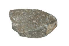 Échantillon d'une roche noire d'ardoise Photos stock