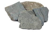 Échantillon d'une roche noire d'ardoise Images libres de droits