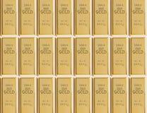 Échantillon de 999 barres d'or Images libres de droits