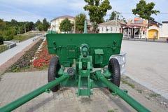 Échantillon de canon 1941-43 ans Complexe commémoratif de la ville d'Elabuga Le Tatarstan image stock