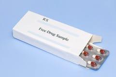 Échantillon de médicament libre Image libre de droits