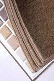 Échantillon de tapis de salle d'exposition Photos stock