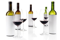 Échantillon de vin aveugle sur le blanc Image libre de droits