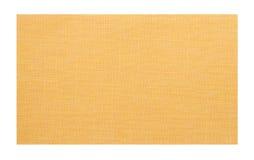 Échantillon jaune de tissu Photos stock