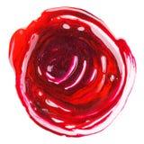 Échantillon mélangé malpropre rouge et pourpré de vernis à ongles Photo libre de droits