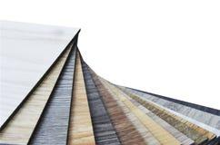 Échantillon matériel de placage en stratifié en bois pour la gestion de conception et l'I Image stock