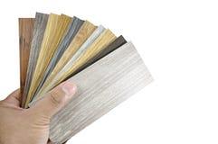 Échantillon matériel de placage en stratifié en bois pour la gestion de conception et l'I photos libres de droits