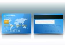 Échantillon par la carte de crédit Image stock