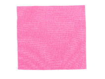 Échantillon rose de tissu Images libres de droits