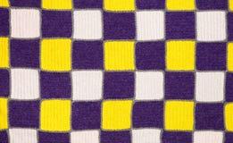 Échantillon tricoté fait main de tissu de tissu Images libres de droits