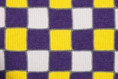 Échantillon tricoté fait main de tissu de tissu Photographie stock libre de droits