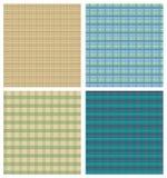 Échantillonneur de fond de tartan, quatre milieux à carreaux dans différentes variantes de couleur Photos stock