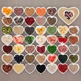 Échantillonneur de nourriture biologique Photo stock
