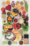 Échantillonneur de nourriture de régime Images stock