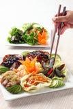 Échantillonneur de rôti de Chinois Photo stock